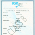 Railway Safety Regulator Permit