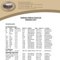 Sandstone Railway Stock List 29 Sept 2017